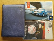 GENUINE CHEVROLET KALOS AVEO HANDBOOK OWNERS MANUAL WALLET 2005-2007 # C-542