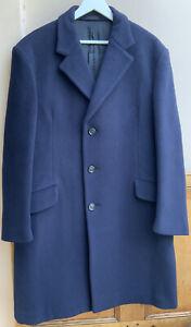 """Genuine Crombie Aberdeen Pure Wool Navy Blue Mens Coat Regular 48"""""""
