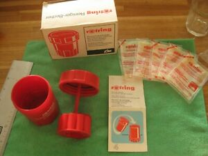 Vintage ROTRING Pen Cleaning Unit Cleaning Sachets Instructions