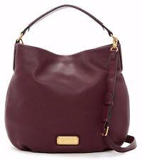 $428 NWT Marc by Marc Jacobs New Q Hillier Leather Hobo Handbag DARK WINE