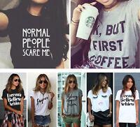 Fashion Women Summer Casual Cotton Blouse Short Sleeve Shirt T-shirt Blouse Top