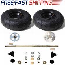 "Go Kart Rear Axle Assembly Kit + 13*5.00-6 6"" Pair Wheels Fit Atv Mini Buggy Us"