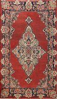 Antique Medallion Mahal Handmade Area Rug Wool Traditional Oriental Carpet 4x7