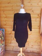 Ladies Women's Size 10 Black Long Jumper Dress