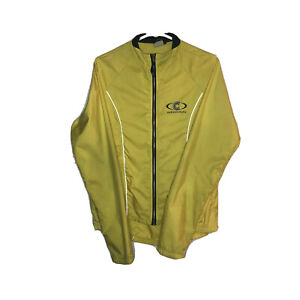 Cannondale Cycling Jacket Windbreaker Yellow Size Medium Made in USA **READ**