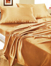 Completo set lenzuola matrimoniale raso oro camera letto set biancheria fodere