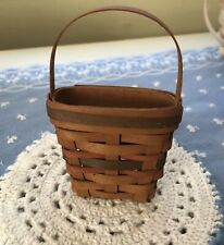 Longaberger Woven Mini Basket 1992