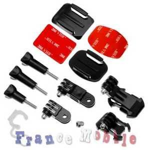 Accessories Set Kit For GoPro Hero 7 6 5 4 3 SJCAM Xiaomi Yi Adhesive Helm Mount