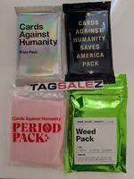 Cards Against Humanity CAH GAY PRIDE WEED PERIOD SAVES AMERICA Exp Packs