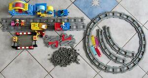 MEGA Lego DUPLO INTELLI EISENBAHN ZUG SET Lok, Intelli Waggon 4 m BAHNLÄNGE