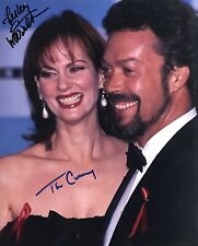 TIM CURRY LESLIE ANN WARREN DUAL SIGNED 8x10 COLOR PHOTO COA