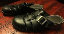 Womens Predictions Leather Collection Black Slip Ons Side Buckle size 7 1/2 Good