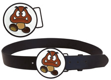 GOOMBA BELT & BUCKLE Small 28-34 inch Mario Officially Licensed Nintendo Merch