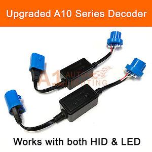 2x A10 EMC 9007 Headlight Canbus LED Decoder HID Kit Error Free Anti-Flickering