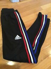 Adidas Tiro 19 Size Xs Men's Soccer Pants - Black W/red,white,blue Stripes, Zip