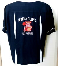 BC Ethic Bowling Shirt Rockabilly Embroidered King of Clubs Shirt Sz Med