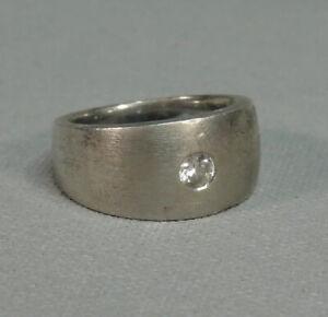 925 Silber - Ring mit Zirkonia  - D: ca. 1,8 cm