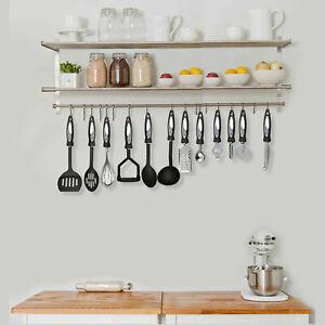 12 Pcs Cooking Utensil Set Stainless Steel Kitchen Gadget Tool Nylon Handles NEW