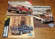 1981 - 1988 Chevrolet Suburban Brochures Lot 8 pcs 1981 1982 1983 84 85 86 87 88