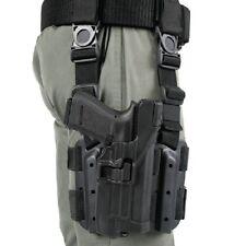 BlackHawk 430700BK-R Black RH Serpa Drop Leg Level 3 For Glock17/22/31 Holster