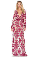New Authentic For Love And Lemons Temecula Maxi dress Red S M L Runs small