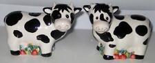 CUTE COW SALT AND PEPPER SHAKERS Black White Farm Barnyard Cows