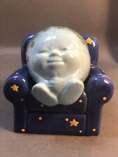 Vintage Rare Clay Art Earth And Stars Ez Chair Salt & Pepper Set Anthropomorphic