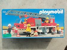 Playmobill Fire Engine #3781 Rare Collectors Item 1992 Unopened Original Box.