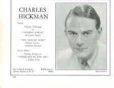 1936, Actors, Charles Hickman, Hubert Gregg