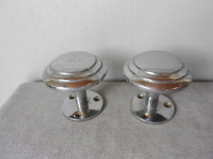 1950s pair Vintage French Chrome CLOTHING HANGERS Hooks