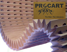 Paint Spray Booth Concertina High Efficiency Backed Cardboard Filter - 1 x 8m