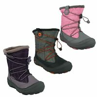 CHIDLRENS SNOW BOOTS GIRLS WATERPROOF TOGGLE WINTER SHOES EQUINOX MID WP JR