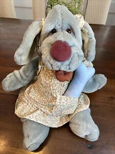 "Vintage 1981 Ganz Bros. WRINKLES 18"" Plush Shar-Pei Dog Puppet W Outfit & Bone!"
