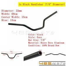 16in Color: Black 23-12536B Ape Hanger Bend Satin Black Emgo Street Handlebar Rise Handle Bar Size: 7//8in.