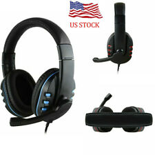 3.5mm Wired Stereo Bass Surround Gaming Headset for PS4 smartphone PC with Mic