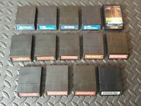 14 GAME INTELLIVISION LOT BURGERTIME, SPACE ARMADA, SKIING, ETC. VINTAGE GOOD