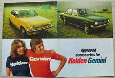 HOLDEN GEMINI APPROVED ACCESSORIES Car LF Sales Leaflet Mar 1975 #9940910