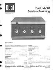 Dual Service Manual für MV 61
