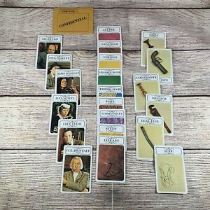 Vintage 1972 CLUE Board Game Replacement Parts Pieces - Complete Card Deck