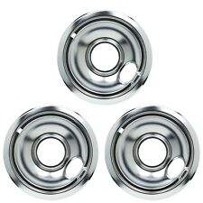 (3 Pack) Stove 6 Inch Chrome Drip Pan Bowl Wpw10196406 Oem