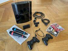 Sony PlayStation 3 Konsole 500GB, inkl. SingStar Mikrofonen & Spielen. Wie neu!