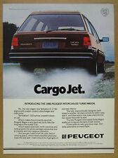 1986 Peugeot 505 Turbo Wagon color photo vintage print Ad