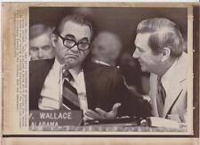 Alabama Gov. George Wallace Difference of expression w/Fl. Gov. AP News photo