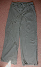 New 10 Topshop Olive Camo green Wide Leg Light Cotton Jeans Trousers jean