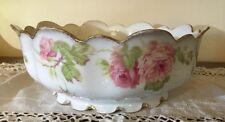 Exquisite Vintage Rosenthal Bavaria Cabbage Roses Centerpiece Serving Bowl
