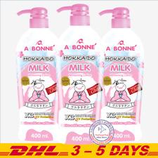 400ml x 3 : A Bonne Hokkaido Milk, Glutathione Whitening Body Lotion