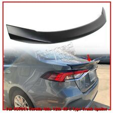 Unpainted For TOYOTA Corolla Altis 12th Saloon C Style Trunk Boot Spoiler 2020