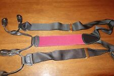 Trafalgar Made in England Silk Woven Burgundy and Black Suspenders