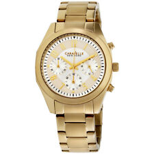 CARAVELLE Women's 44L118 Gold Stainless-steel Japanese Chronograph Fashion Watch