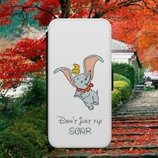 DISNEY/DUMBO/QUOTE/ELEPHANT/FLIP WALLET PHONE CASE COVER FOR IPHONE/SAMSUNG